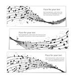 Wavy music banners Royalty Free Stock Photos
