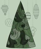 Wavy New Year tree Royalty Free Stock Photos