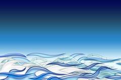 Wavy ocean Royalty Free Stock Photo