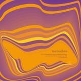 Wavy orange purple retro background Royalty Free Stock Image