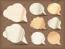 Wavy paper speech bubbles Royalty Free Stock Photography