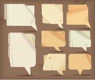 Wavy paper speech bubbles Stock Photo