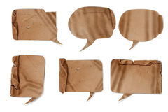 Wavy paper speech bubbles Royalty Free Stock Image