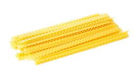 Wavy pasta isolated. On a white background Royalty Free Stock Photo