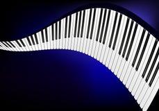 Wavy piano keyboard Stock Image