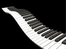 Wavy piano keys Royalty Free Stock Photography