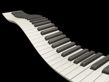 Wavy piano keys Royalty Free Stock Image
