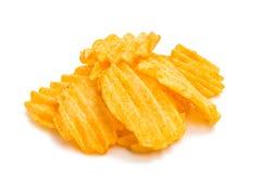 Wavy potato chips Royalty Free Stock Photography