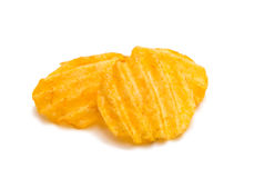 Wavy potato chips Royalty Free Stock Images