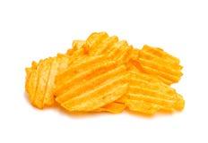 Wavy potato chips Stock Photo