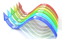 Wavy rainbow arrows Stock Photography