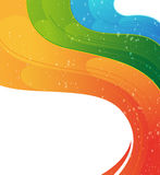 Wavy rainbow  background Stock Photo