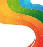 Wavy rainbow  background Stock Photo