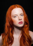 Wavy Red Hair Stock Image