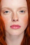 Wavy Red Hair Stock Photo