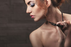 Wavy Red Hair. Fashion Girl Portrait. Royalty Free Stock Photography