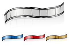wavy remsa för 3 film Fotografering för Bildbyråer