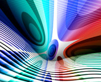 Wavy Retro Abstract. Colorful wavy retro abstract illustration with stripes and circles Royalty Free Stock Photos