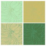 Wavy retro patterns Stock Photos