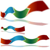 Wavy Ribbon Arrow Chart Stock Photo
