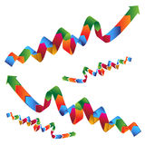 Wavy Ribbon Profit Arrow Stock Photos