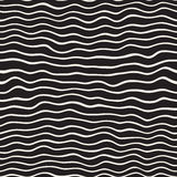 Wavy Ripple Hand Drawn Lines. Abstract Geometric Background Design. Vector Seamless Pattern. stock illustration