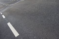 Wavy road with white line pattern Stock Images