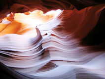 Wavy rock surface in Antelope Canyon. (Navajo land, Arizona, USA Royalty Free Stock Images