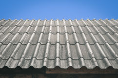 Wavy roof with blue sky - Vintage retro effect style Royalty Free Stock Photo