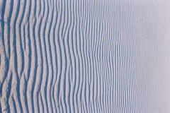 Wavy sand. Wavy pattern in fine sand Stock Photos