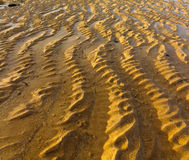 Wavy sand pattern on Nusa Dua beach, Bali Royalty Free Stock Photos