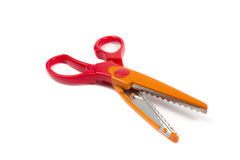 Wavy scissors 2 Royalty Free Stock Images