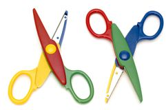 Wavy scissors on white Stock Images