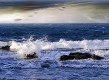 Wavy sea Stock Images