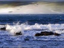 Wavy sea stock images