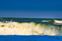 The wavy sea in Hua Hin Thailand stock photography