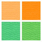 Wavy seamless backgrounds Royalty Free Stock Photos