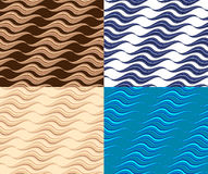 Wavy seamless patterns Royalty Free Stock Image