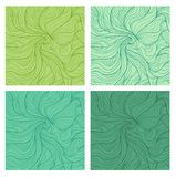 Wavy seamless patterns set Stock Photo