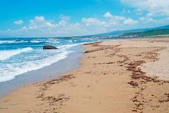 Wavy shore Stock Photo