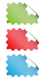 Wavy Square Stickers Royalty Free Stock Photography