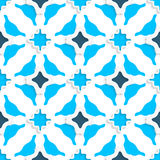 Wavy squares with light and dark blue seamless Stock Image