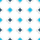 Wavy squares simple ornament seamless Stock Photo