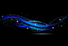 Wavy starry blue background Royalty Free Stock Photography