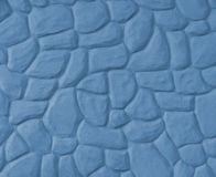 Wavy Stone Wall (Blue) Stock Photo