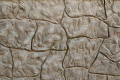 Wavy stone wall (gray). Gray stone wall with wave pattern Stock Images