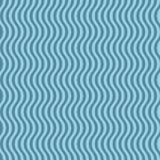 Wavy striped pattern. Blue geometric seamless pattern Stock Image