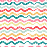 Wavy, striped seamless pattern. Vector illustration in eps8 format Royalty Free Stock Photos