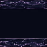 Wavy stripes on a dark background Royalty Free Stock Photos