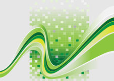 Wavy stripes with a green tint.Banner.Background. Royalty Free Stock Photo